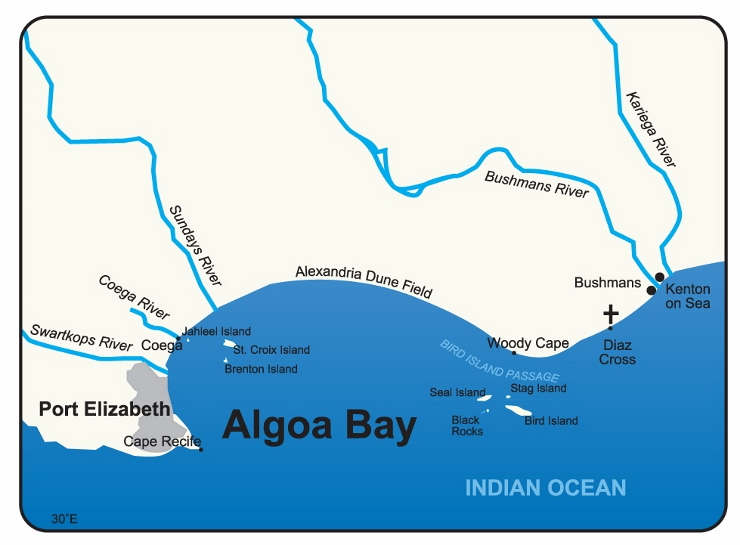 Map of Algoa Bay