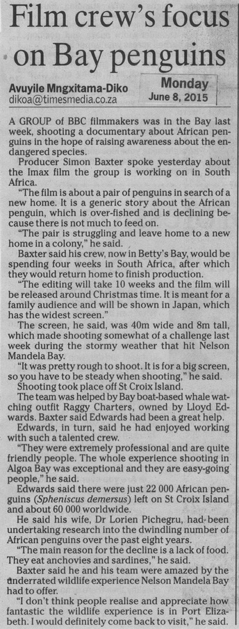 BBC Film Crew Article