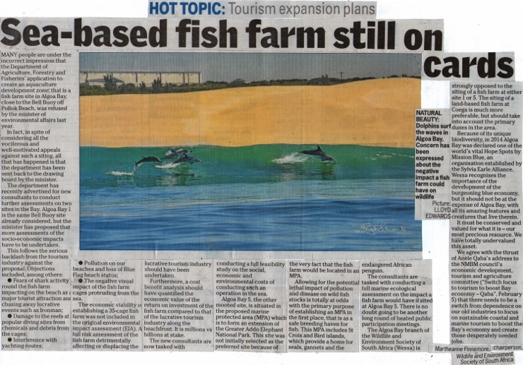 Important Fish Farm Article