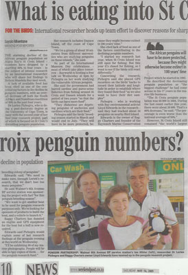 Port Elizabeth Penguin Numbers Declining