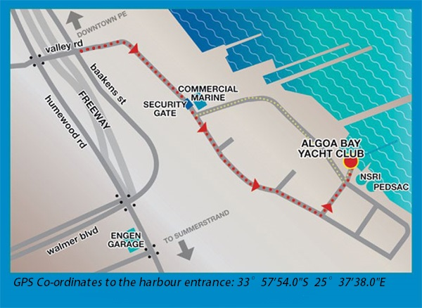 Map to Algoa Bay Yacht Club